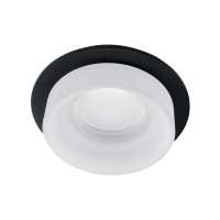 SA-045/1 SINGLE DOWNLIGHT ROUND BLACK/WHITE
