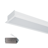 HIGH POWER LED PROFILE RECESSED S48 40W 4000K WHITE+EMERGENCY KIT