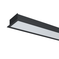 ULTRA THIN LED PROFILE RECESSED S36 9W 4000K BLACK